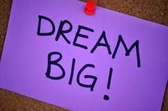 De Grote Nota van de droom over Pinboard Royalty-vrije Stock Foto