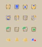 De grote ontworpen pictogrammen van beeldverhaalegypte Royalty-vrije Stock Fotografie