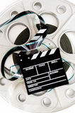 De grote oude beroeps van de filmspoel voor 35mm bioskoop en klep Stock Afbeeldingen