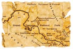 De grote oude kaart van de Canion stock foto's