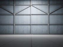 De grote pakhuisdeur verlicht vector illustratie