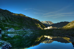 De grote Pas van de Sint-bernard, Zwitserland Royalty-vrije Stock Foto's