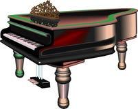 De grote piano van Duitsland Royalty-vrije Stock Afbeeldingen