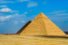 De grote Piramide Stock Afbeeldingen