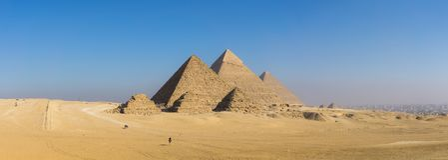 De grote Piramide van Giza en Sfinx, Kaïro, Egypte royalty-vrije stock foto's
