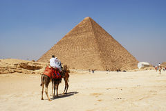 De grote piramide van Giza, Eygpt Stock Foto