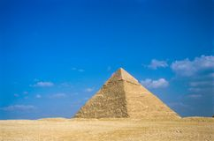 De Grote Piramides in Giza stock fotografie