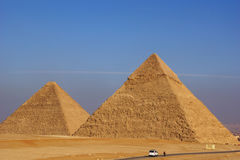 De grote Piramides van Giza Stock Fotografie