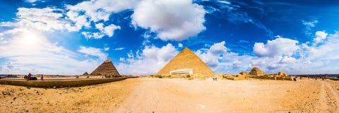 De grote piramides van Giza, Egypte Stock Foto