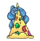 De grote pizza van koningsKong Stock Foto