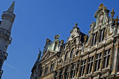 De grote Plaats in Brussel stock foto's
