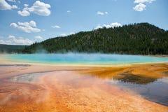 De grote Prismatische lente bij nationaal park Yellowstone stock afbeelding