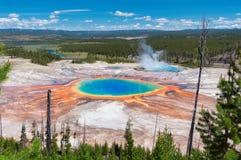 De grote Prismatische Lente in het Nationale Park van Yellowstone royalty-vrije stock foto's