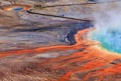 De grote Prismatische Lente, Nationaal Park Yellowstone Stock Foto