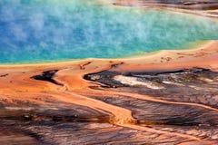 De Grote Prismatische Lente van Yellowstone Stock Foto's