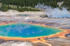 De grote Prismatische Lente in Yellowstone, Wyoming Stock Fotografie
