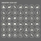 De grote reeks van het de Industriepictogram Stock Foto