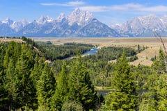 De grote Rivier van Tetons en van de slang, Wyoming Royalty-vrije Stock Fotografie