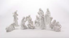 De grote Scène van de Geboorte van Christus Stock Fotografie