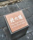 De Grote sectie van Muurbadaling - de zesde toren van het het noorden zijteken, Peking, China Royalty-vrije Stock Fotografie