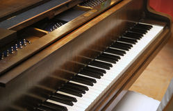 De grote Sleutels van de Piano Stock Fotografie