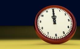 De grote spoedtijd van de klokuiterste termijn twaalf van de middag 3D uur illustratie stock afbeelding