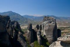 De grote stenen Meteora Stock Afbeeldingen