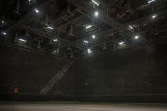 De grote studio voor maakt de reeks in Filmbeeld Royalty-vrije Stock Foto's