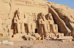 De Grote Tempel van Ramesses II Abu Simbel, Egypte Royalty-vrije Stock Foto's