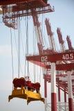 De grote Terminal van de Container stock afbeelding