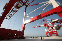 De grote Terminal van de Container royalty-vrije stock foto