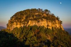 De Grote Top van ProefdieMountain, bij zonsondergang van Weinig P wordt gezien Royalty-vrije Stock Afbeelding