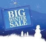 De grote vectorillustratie van de de winterverkoop Stock Foto's