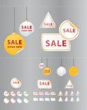 De grote vectorreeks van de verkoopsticker. Stock Afbeelding
