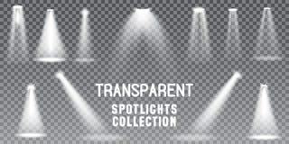 De grote verlichting van de Inzamelings Realistische witte Scène op transparante achtergrond royalty-vrije illustratie