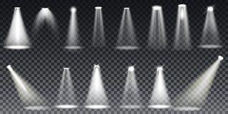 De grote verlichting van de Inzamelings Realistische witte Scène op transparante achtergrond vector illustratie