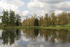 De grote vijver in het park van Catherine Royalty-vrije Stock Afbeelding