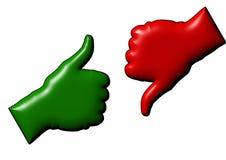 De grote vinger van een hand Stock Foto
