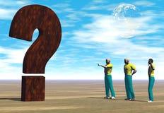 De grote vraag royalty-vrije illustratie