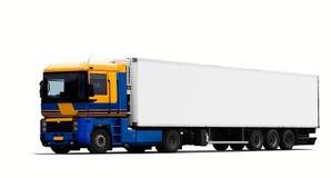 De grote vrachtwagen van de tractoraanhangwagen stock afbeeldingen