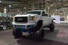 De Grote Vrachtwagen van GMC op vertoning Stock Foto's