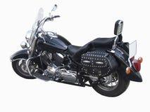 De grote weg zwarte motorfiets. Royalty-vrije Stock Afbeeldingen