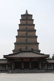 De grote Wilde Pagode van de Gans in Xian Stock Foto's