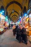 De grote winkels van de Bazaar in Istanboel. royalty-vrije stock fotografie