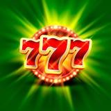 De grote winst last 777 bannercasino in Royalty-vrije Stock Afbeelding