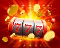 De grote winst last 777 bannercasino in Stock Afbeelding