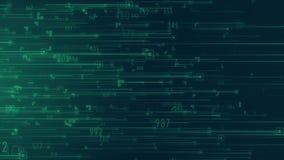 De grote wolk die van de de gegevensanalyse van de gegevensstroom met binaire code gegevens verwerken royalty-vrije illustratie