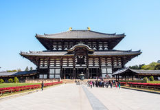 De grote zaal van Boedha van Todaiji-tempel, Nara, Japan 2 Royalty-vrije Stock Fotografie