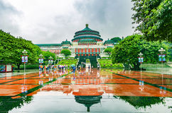 De Grote Zaal van de Mensen in centraal van Chongqing, China royalty-vrije stock foto's