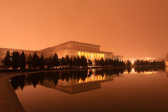 De grote Zaal van de mensen in de nacht, Peking royalty-vrije stock fotografie